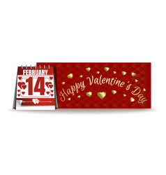 banner for valentines day 14th february vector image