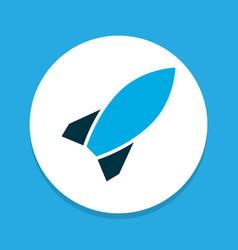 bomb icon colored symbol premium quality isolated vector image