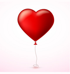 Bright red heart the inflatable balloon in the vector