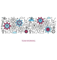 Business people teamwork concept vector