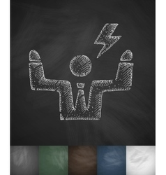 Businessman icon Hand drawn vector