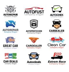 Car deal and repair design vector