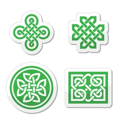 Celtic knots patterns vector image