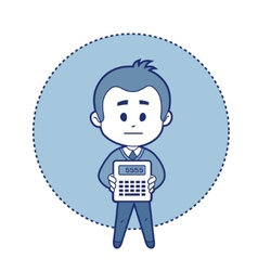 Character accountant with calculator vector image
