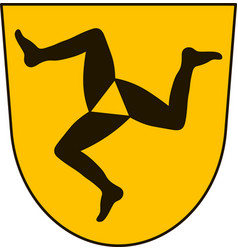 Coat of arms of fussen in swabia bavaria germany vector