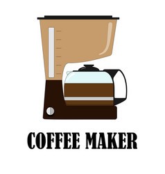 color of the coffee maker vector image