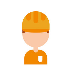 construction worker avatar character vector image