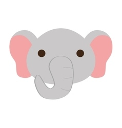 cute elephant isolated icon vector image vector image