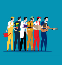 different professions people concept labor day vector image