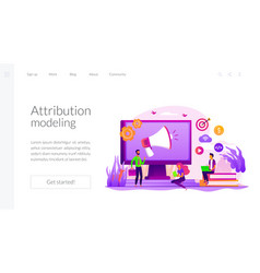 Digital marketing strategy landing page template vector