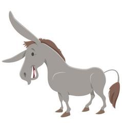 donkey cartoon farm animal character vector image