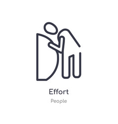 Effort outline icon isolated line from people vector