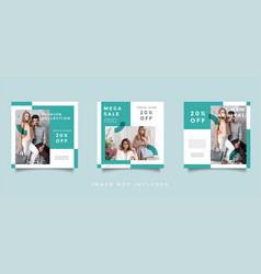 fashion social media promotion design collection vector image