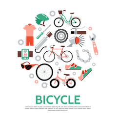 Flat bicycle concept vector