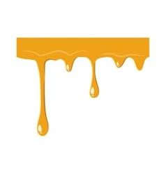Flowing drop of honey icon vector