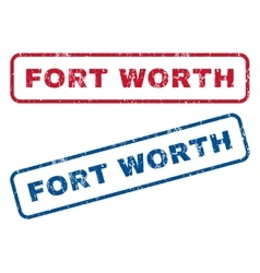 Fort Worth Rubber Stamps vector