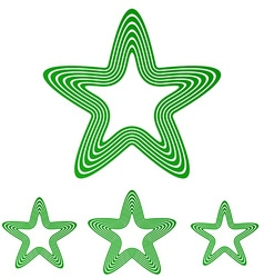 Green line star logo design set vector