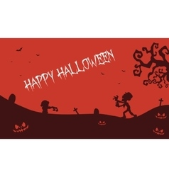 Happy halloween zombie pumpkins tomb backgrounds vector