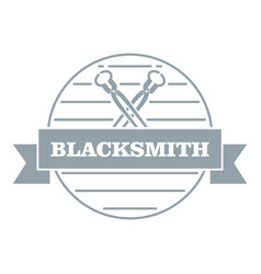 Hard blacksmith logo simple gray style vector
