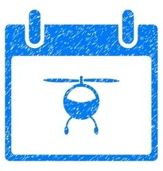 Helicopter Calendar Day Grainy Texture Icon vector