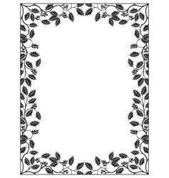 Holly frame vector