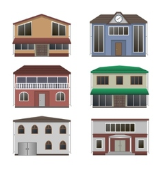 Home icon collection vector image