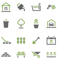 Icons house and garden vector