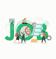 job concept flat design hr vector image