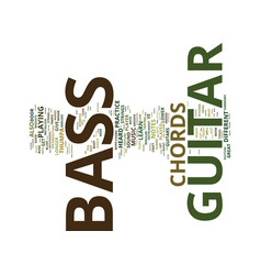 Let s hear em bass guitar chords text background vector