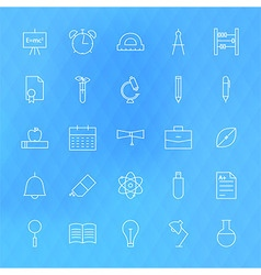 Line School Icons Set vector image