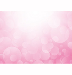 love pink background with bokeh vector image