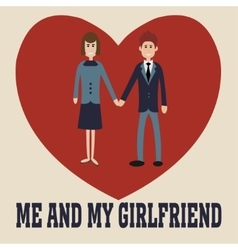 Me and my girlfriend vector image