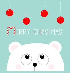 Merry christmas candy cane polar white little vector