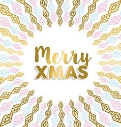 Merry Xmas gold mandala design in light colors vector