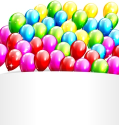 Multicolored Inflatable Celebration Bright vector image