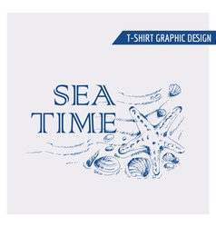 Nautical Beach Graphic Design - for t-shirt vector