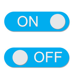Onoff switch icon on white background onoff vector
