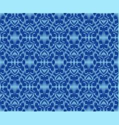 Original patterned fabric indigo dyed ikat vector