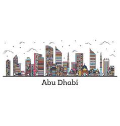 Outline abu dhabi united arab emirates city vector
