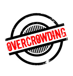 Overcrowding rubber stamp vector