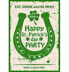 Retro St Patricks Day Typography Poster With vector