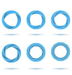 Segmented circles abstract figures vector