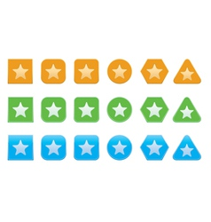 Set of favorite icons vector