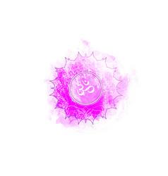 Seventh chakra of sahasrara crown chakra logo vector