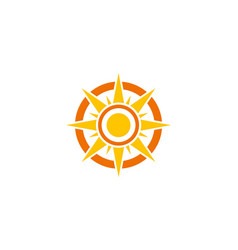 shine north star logo vector image
