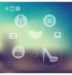 shopping infographic with unfocused background vector image