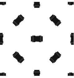 Side release buckle pattern seamless black vector