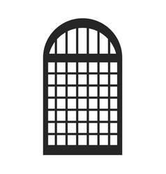 Silhouette monochrome of window icon vector