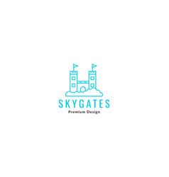 Sky kingdom gate lines logo symbol icon graphic vector