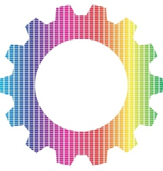Spectrum gear vector image